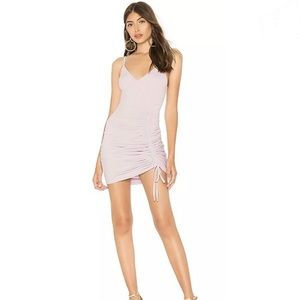 New by the way. Lucky Ruched Dress in Lavender SM